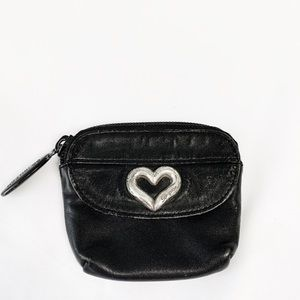 Brighton black leather change purse